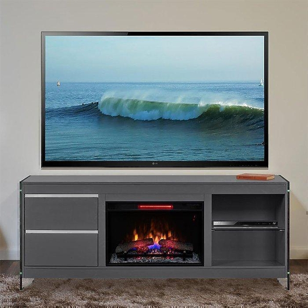 Подставка под телевизор Bello 26MM6501-F965 BISCAYNE (с электрокамином) #3 в «HiFiRussia»