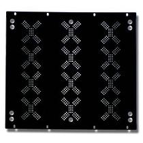 EuroMet EU/R-KV18  00552 Набор задних рэковых панелей с отверстиями для вентиляции, 18U, с крепежом.