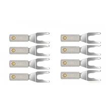 Wire World Set of 8 Uni-Term Silver Spades w/Sockets
