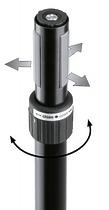 K&M K&M 21467-000-55 Ring Lock спикерная стойка на треноге, высота от 1,370 to 2,050 мм, диам. трубы от 35 до 37 мм, алюм., чёрный