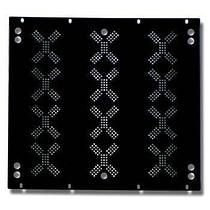 EuroMet EU/R-V12B 02011 Задняя рэковая панель 12U с отверстиями для вентиляции.