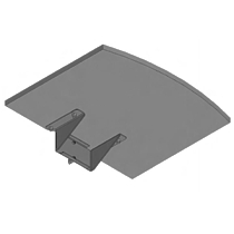 SMS Flatscreen shelf M/L Black