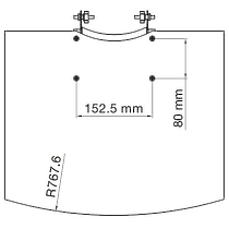 SMS Flat shelf H Grey+Consol
