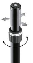K&M K&M 21467-000-55 Ring Lock спикерная стойка на треноге, высота от 1,370 to 2,170 мм, диам. трубы от 35 до 37 мм, алюм., чёрный