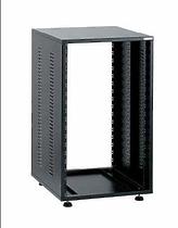 EuroMet EU/R-18LXPА 05386 3 части Рэковый шкаф c дверью  и задней панелью,18U, глубина 640мм