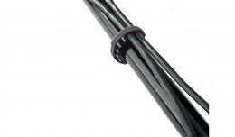 K&M K&M 21404-000-55 два органайзера для 12ти кабелей разного диаметра, подходят для микрофонной, спикерной, световой стойки