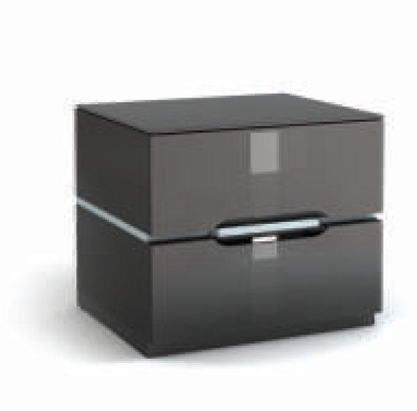 Тумба под телевизор Металлдизайн (Metaldesign) MD 455.0624 Planima дымчатое стекло-черный-серебр в «HiFiRussia»